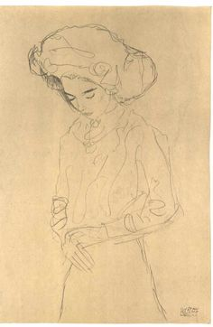 Girl with bended head, Gustave Klimt