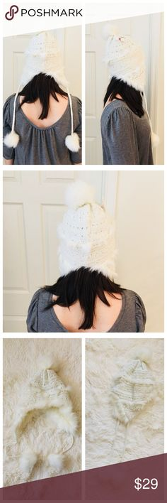 ❄️ White Lace Puff Hat ❄️ Brand new and never worn! Very comfy and lightweight! AEO Accessories Hats