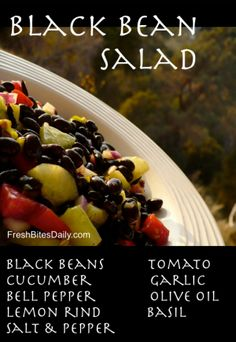 Black Bean Salad at FreshBitesDaily.com