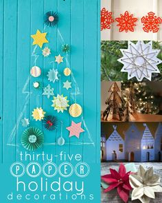 35 Paper Holiday Decorations for Christmas remodelaholic.com #budget #ornaments #christmas