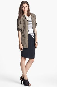 Trouvé Jacket, Stateside Tee & Trouvé Skirt  available at #Nordstrom love the whole look!!