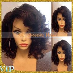 Virgin Brazilian Side Part Wigs Short Curly Bob Lace Front Wigs With Baby Hair Glueless Full Lace Human Hair Wigs