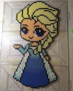Elsa - Frozen perler beads by perlinthesprites_byliz