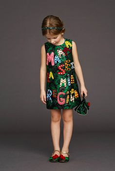 stich on some words ...... Kid's Wear - Dolce&Gabbana AW 2015/16