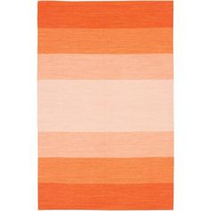 Panoptic Stripe Rug, Naval Orange   Lulu and Georgia