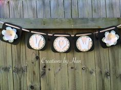 Bride and groom's initial garland