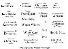 Kerst teksten - Nicole v Kalsbeek - Verkooijen.