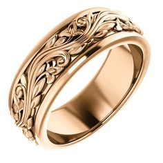 Solid Gold Ring Color: Yellow Gold Finish: Polished Band Style: Sculptural-Inspired Ring Fit: Standard MM: Weight: – grams, varies by ring size Antique Wedding Rings, Unique Wedding Bands, Wedding Ring Bands, Platinum Ring, Stainless Steel Rings, Or Rose, Rose Gold, Men Accessories, Men Rings