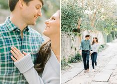 Classic and beautiful posing for downtown Charleston engagement photos by Aaron and Jillian Photography