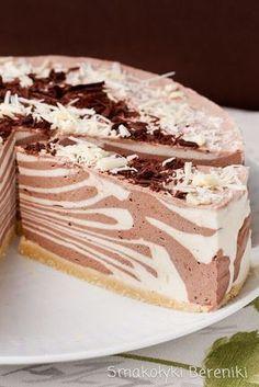 Sernik z wzorem zebry Brownie Recipes, Cheesecake Recipes, Cookie Recipes, Dessert Recipes, Polish Desserts, Polish Recipes, Vegan Junk Food, Dessert Bread, Sweet Tarts