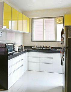 Yellow Kitchen Designs, Kitchen Design Open, Luxury Kitchen Design, Kitchen Cabinet Design, Interior Design Kitchen, Kitchen Decor, Kitchen Ideas, Kitchen Cabinets, Cabinet Decor