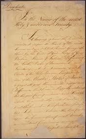 The treaty of Paris was a negotiation between the USA and Great Britain that ended the revolutionary war. And regonized Americas independence in The continental congress came up with a commission to come up with the treaty. American Revolutionary War, American War, American History, Independence War, American Independence, Treaty Of Paris, Defender Of The Faith, Document Sign, Canadian History