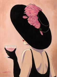 Glamorous ladies in hats - Lorraine Dell Wood