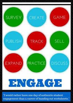 TOUCH this image: Student Engagement using Technology - Lots of Great Resources and Love the Layout/Design by Sarah Winans
