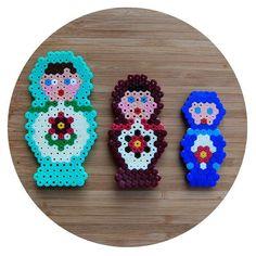 Matryoshkas hama beads by perlschwein