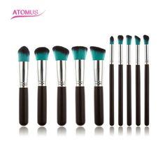 10Pcs Professional Eyeshadow Brush Soft Pony Hair Makeup Brushes Set,Eye Make up Cosmetic Brush For Women HT10-11