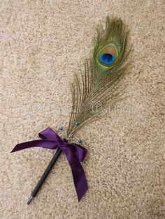 Peacock Feather Pen Peacock wedding pen Peacock by CarmelWedding, $14.99