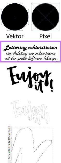 Eine einfache Schritt-für-Schritt Anleitung, wie du ganz einfach dein Lettering vektorisieren kannst dank der gratis Software Inkscape! So stehen dir alle Möglichkeiten mit deinem Handlettering offen! Ob Stempel, 3D-Druck, Logos oder sonstige Verwendungsmöglichkeiten deines Letterings - dank dem Vektorisieren klappt alles - in jeder Grösse!