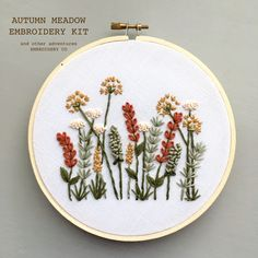 Modern Hand Embroidery KIT - Autumn Meadow DIY Embroidery Hoop by And Other Adve. - Çizim fikirleri Modern Hand Embroidery KIT – Autumn Meadow DIY Embroidery Hoop by And Other Adventures Embroidery Co – Source by DabbleDD – - Embroidery Stitches Tutorial, Embroidery Flowers Pattern, Embroidery Patterns Free, Hand Embroidery Stitches, Embroidery Hoop Art, Machine Embroidery, Embroidery Sampler, Knitting Stitches, Simple Embroidery Designs