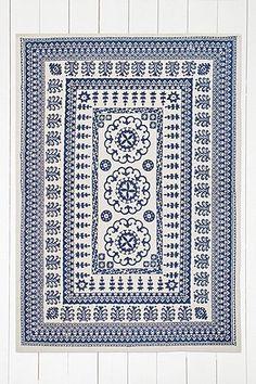 Tapis Euphrates bleu 5 x 7