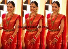 Elegant Bride in Graceful Bridal Attire ~ Celebrity Sarees, Designer Sarees, Bridal Sarees, Latest Blouse Designs 2014