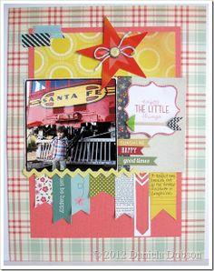 Layout by Daniela Dobson  Scrapbook Circle True Stories kit