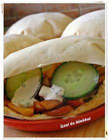 ÍZZEL ÉS LÉLEKKEL: GYROS PITÁBAN Street Food, Tacos, Food And Drink, Mexican, Breakfast, Ethnic Recipes