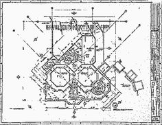Ken anderson 39 s layout for a walk through disneyland for Haunted mansion blueprints