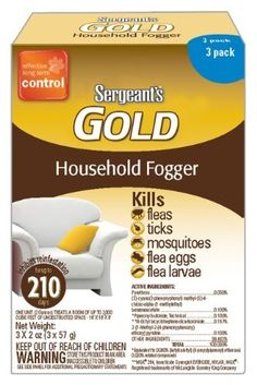 Sergeant's Gold Flea and Tick IGR Fogger 3 Count 2-Ounce by Sergeant's Pet. $13.49. Breaks Flea life cycle. Insect Growth Regulator. Kills Roaches, Ants, Mosquitos, Ticks, Wasps & Crickets. Flea & Tick Household Fogger. Protection for 7 months. Sergeant's Gold Flea & Tick IGR Fogger 2-Ounce 3ct