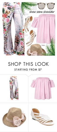 """""""Shimmy, Shimmy: Off-Shoulder Tops(rosegal 55)"""" by meyli-meyli ❤ liked on Polyvore featuring Milly"""