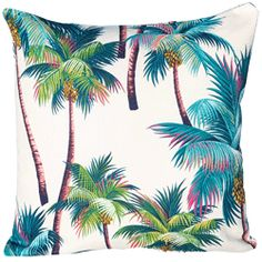 Palm tree cushion  Paint on cotton then quilt around it!