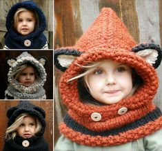 DIY Crochet & Knitted Cowls