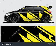 3D Bay Window View Race Car Road Speed Wall Sticker Poster M2-38