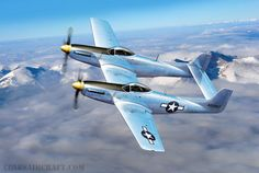 XP-82 Twin Mustang, by Ron Cole