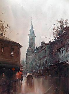 Dusan Djukaric  Watercolor, 54x74 cm