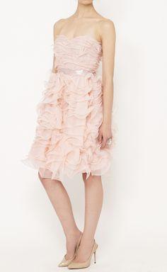 Oscar de la Renta Pink Dress | VAUNTE