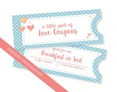 Fun Love Coupon Book  Gift for Her  12 Funny Printable