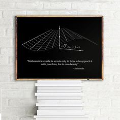Math gift Archimedes quote Science art poster by PrintablePixel