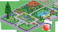 Springfield Simpsons, Springfield Tapped Out, The Simpsons Game, Clash Of Clans, Design Ideas, Park, Games, The Simpsons, Gaming