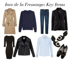 """Ines de la Fressange: Key Items"" by molnijax ❤ liked on Polyvore featuring Burberry, Uniqlo, Paul Smith, Chicnova Fashion, Jane Norman, John Lewis, Roger Vivier and Alexander McQueen"