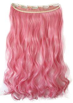 PRETTYSHOP 5 Clips 25cm x 60cm 120g One Piece Clip in Extensions Haarverlängerung Hiztebeständig Bunt Gewellt oder Glatt Diverse Farben: Amazon.de: Beauty