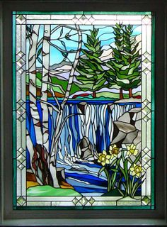 A stained glass window by Valley Rose Designer Glass. (Courtesy photo)