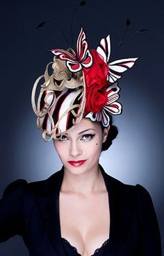 Hats for Women: Guibert Millinery, Rock Me Rococo Collection. Chapeaux Pour Kentucky Derby, Kentucky Derby Hats, Ascot Hats, Crazy Hats, Stylish Hats, Fancy Hats, Wearing A Hat, Love Hat, Hat Hairstyles