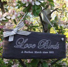 Love Birds Wedding Sign