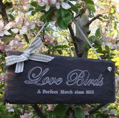 Love Birds Wedding Sign