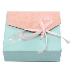 Ribbon Bowknot Square Cardboard Jewelry Box