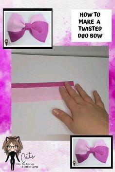 Ribbon Hair Bows, Diy Hair Bows, Diy Ribbon, How To Make Hairbows, How To Make Bows, Hair Bow Making, Diy Hair Accessories Tutorial, Bow Quotes, Diy Leather Bows
