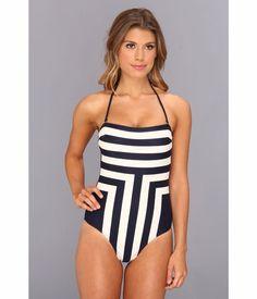 ed4d285275fce New Ted Baker Navy Neevee New Stripe Bandeau Halter One Piece Swimsuit USA  4  TedBaker  OnePiece. Ventcri · Swim