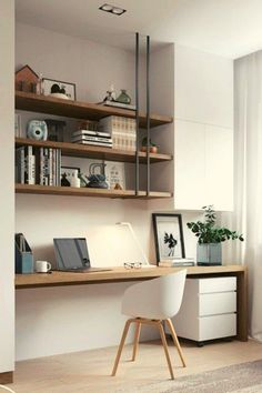 Simple, Easy & Intimidating DIY Desk Ideas – Thrift with Vitor – Home Office Design Diy Decor, Home Office Decor, Interior, Diy Desk, Diy Bathroom Decor, Home Decor, House Interior, Interior Design, Office Design