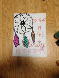 DIY dream catcher canvas